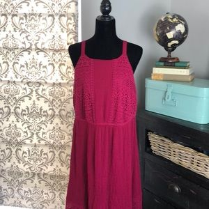 Torrid Maxi Sun Dress Lined Fuchsia